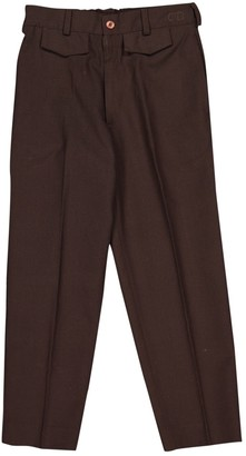 Christian Dior Brown Polyester Trousers