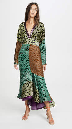 Silvia Tcherassi V Neck Colorblock Dress