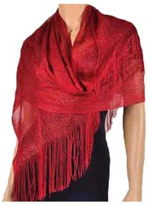 Mystique Fashion Metallic evening party wedding scarf/ stole