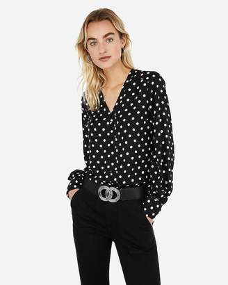 Express Polka Dot Button Front Chelsea Shirt