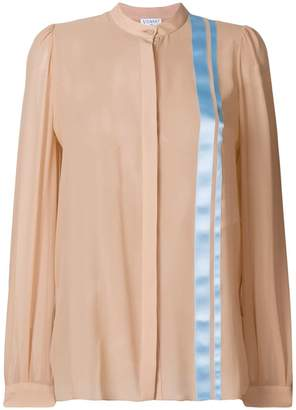 Vionnet stripe detail floaty blouse