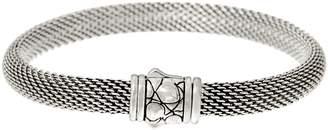 Croco Jai JAI Sterling Silver Mesh Bracelet w Texture Clasp