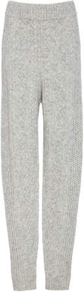 Sally LaPointe Cable-Knit Slim Track Pants