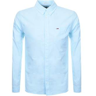 Tommy Jeans Long Sleeved Oxford Shirt Blue