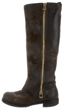 Jimmy Choo Jimmy Choo Distressed Knee-High Boots