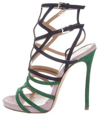 DSQUARED2 Colorblock Cage Sandals