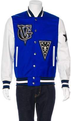 Givenchy Wool & Leather Varsity Jacket