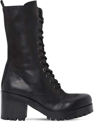 Strategia 50mm Boston Leather Combat Boots