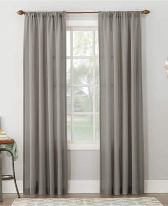 "Amalfi by Rangoni Lichtenberg No. 918 54"" X 95"" Linen Blend Textured Sheer Rod Pocket Curtain Panel 54"" X 95"""