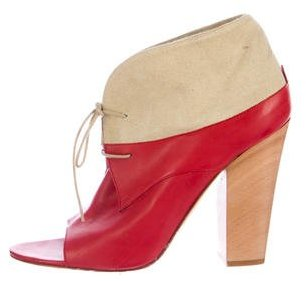 Laurence Dacade Peep-Toe Ankle Boots $235 thestylecure.com