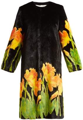 Shrimps - Daffodil Faux Fur Coat - Womens - Black Multi