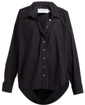 Marques Almeida Marques'almeida - Ring Detail Cotton Shirt - Womens - Black
