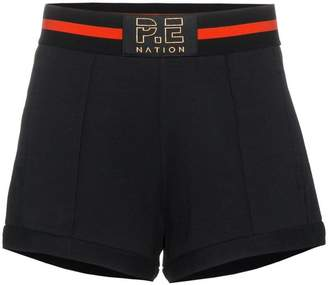 P.E Nation Just For Kicks cotton shorts