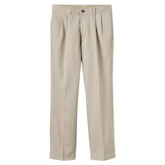 Chaps Boys 8-20 School Uniform Pleated Twill Pants