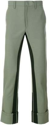 Prada contrasting stripe trousers