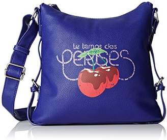 Le Temps Des Cerises Women Ltc3m09 Cross-Body Bag Blue Size: