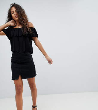 Missguided Tall Raw Hem Mini Skirt