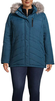 Free Country Woven Hooded Water Resistant Heavyweight Puffer Jacket-Plus
