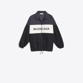 Balenciaga Nylon and denim Jacket with logo