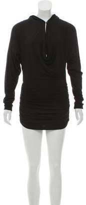 Nicole Miller Hooded Mini Dress