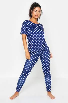 boohoo All Over Star Print PJ Set