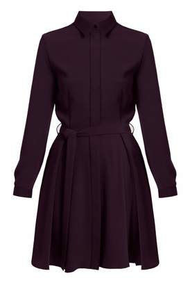 UNDRESS - Abigail Purple Mini Circle Skirt Shirt Dress