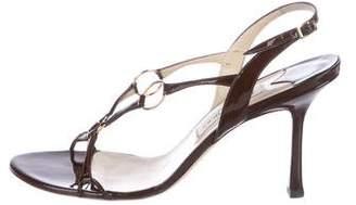 Jimmy Choo Patent Slingback Sandals