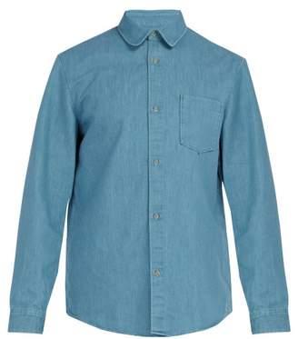 A.P.C. Stitch Denim Shirt - Mens - Blue