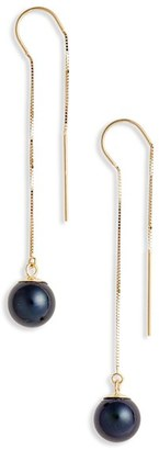 Women's Poppy Finch Pearl Threader Earrings $305 thestylecure.com