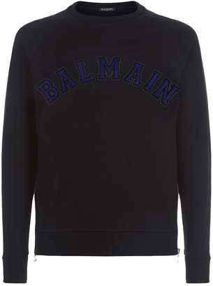 Balmain Logo Zip Sweater