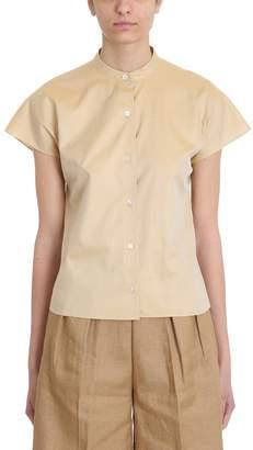 Theory Dolman Beige Cotton Shirt