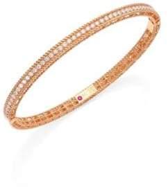 Roberto Coin Symphony Braided Diamond& 18K Rose Gold Bracelet