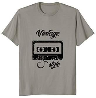 Vintage Style T-Shirt best cassette vintage gift