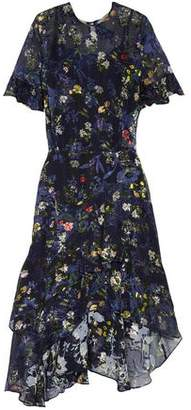 Preen by Thornton Bregazzi Annabel Floral-Print Devoré Silk-Blend Chiffon Dress