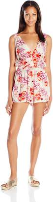 MinkPink Women's Holiday Fling Playsuit Romper Cover up