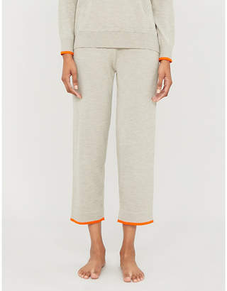 Chinti and Parker Contrast-trim cashmere jogging bottoms