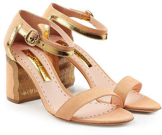 Rupert Sanderson Leather and Suede Sandals