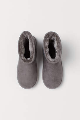 H&M Warm-lined Boots - Gray