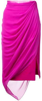 Prabal Gurung draped midi skirt