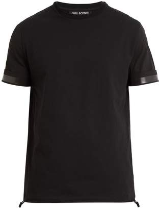 Neil Barrett Contrast stripe cotton T-shirt