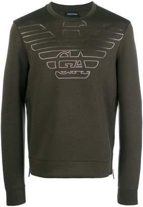 Armani Jeans degrade logo sweatshirt