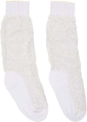 Sacai White Super Spangle Socks