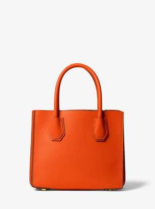 24627110f MICHAEL Michael Kors Mercer Medium Pebbled Leather Accordion Crossbody Bag