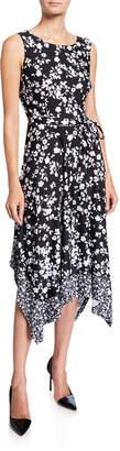 Chetta B Floral-Print Handkerchief Dress