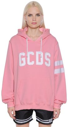 Gcds Cotton Hooded Sweatshirt $221 thestylecure.com