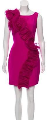 Marchesa Ruffled Mini Dress