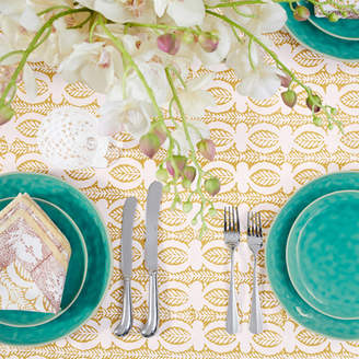 OKA Daun Tablecloth, Small - Turmeric