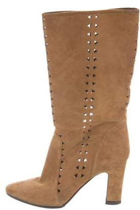 Tamara Mellon Pointed-Toe Mid-Calf Boots