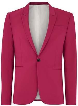 Topman Mens Bright Pink Spray On Suit Jacket