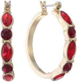 Liz Claiborne Red 15mm Hoop Earrings